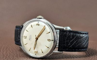 Alpina Gents Watch - Automatic Bumper -  Steel - 1960s - 2-d8825b0e
