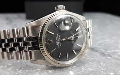 Vintage Rolex Datejust 1601 black dial